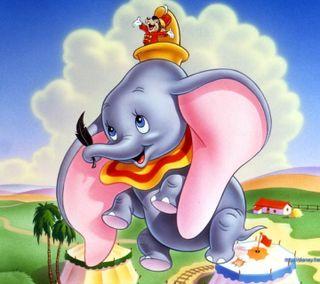 Обои на телефон слон, мультфильмы, милые, dumbo