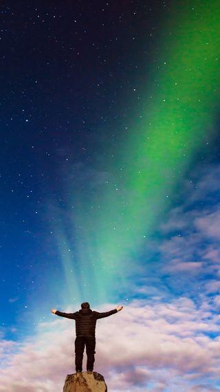 Обои на телефон аврора, прекрасные, небо, iceland sky, daylight, appreciation