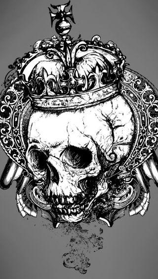 Обои на телефон корона, череп, ужасы