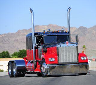 Обои на телефон грузовик, черные, красые, америка, kenworth