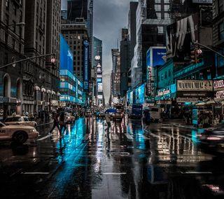 Обои на телефон городские, улица, синие, путь, нью йорк, новый, дорога, город, urban blue