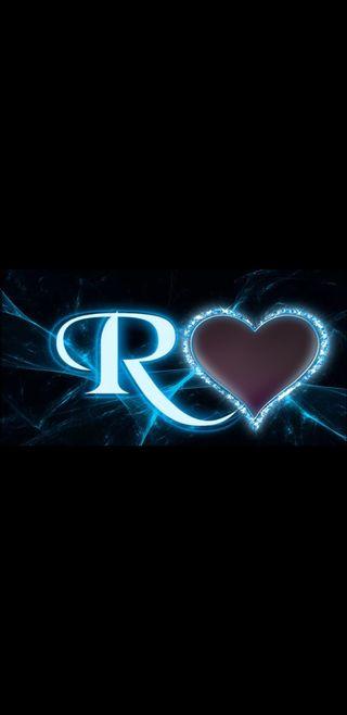 Обои на телефон молния, черные, синие, сердце, буквы, r letter