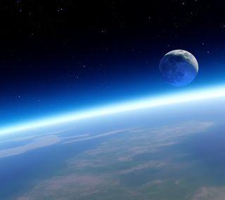 Обои на телефон планета, синие, космос