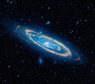 Обои на телефон синие, космос, вселенная