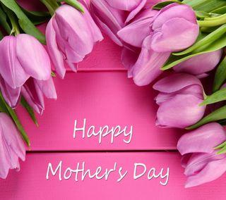 Обои на телефон тюльпаны, счастливые, розовые, матери, мама, день, весна, happy