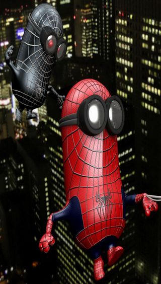 Обои на телефон паук, я, мультфильмы, миньоны, spider minions, spider minion
