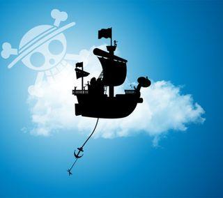 Обои на телефон корабли, счастливое, небо, милые, луффи, ван пис, nubes, mugiwaras, merry going