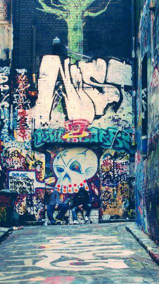 Обои на телефон вечеринка, улица, приятные, ок, крутые, классные, дорога, граффити