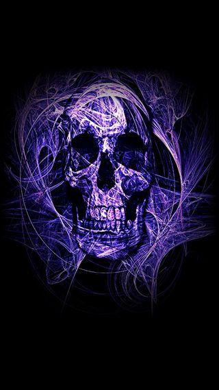 Обои на телефон череп, фиолетовые, purple skull, gfd