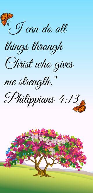 Обои на телефон дела, библия, verse, philippians, i can do all things