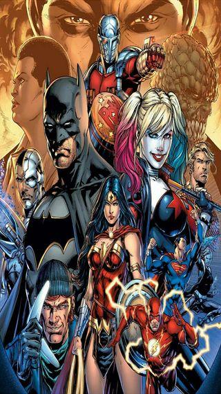 Обои на телефон харли, справедливость, лига, бэтмен, аниме