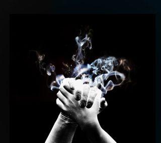 Обои на телефон рука, дым, smoke in hand, hd