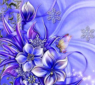Обои на телефон цветочные, цветы, синие, прекрасные, любовь, бабочки, абстрактные, beautiful blue, abstract love