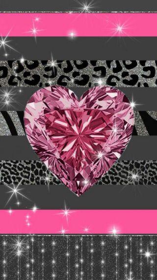 Обои на телефон бриллиант, розовые