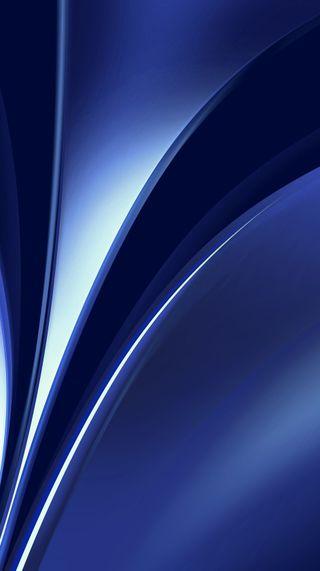 Обои на телефон яркие, синие, изгибы