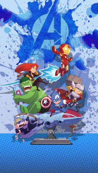 Обои на телефон железный человек, черные, халк, соколиный глаз, мультфильмы, мстители, кепка, америка, cap america, avengers cartoon