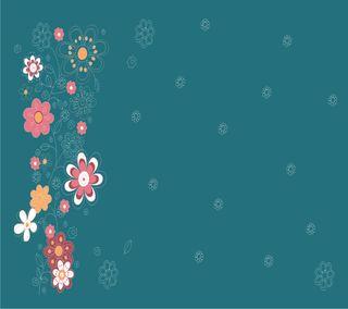 Обои на телефон точки, цветы, flower2, conture