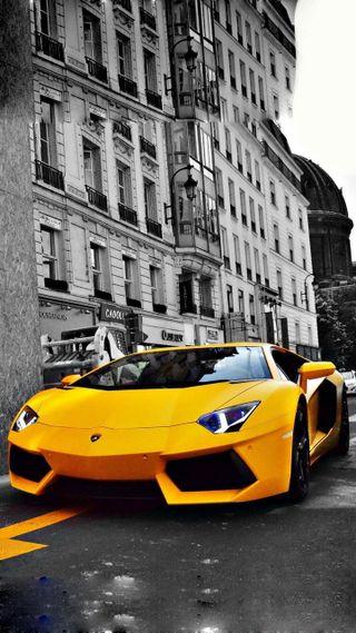 Обои на телефон скорость, машины, ламборгини, желтые, гоночные, винтаж, авентадор, lamborghini, aventador