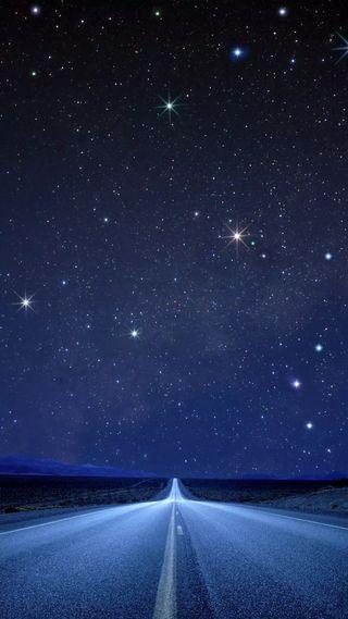 Обои на телефон небеса, природа, небо, звезды, дорога, road to heaven