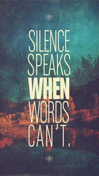 Обои на телефон тишина, слова, высказывания, speaks