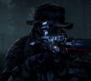 Обои на телефон солдат, ночь, лазер, battlefield 4