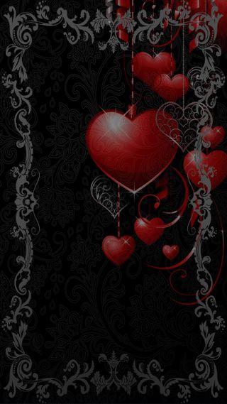 Обои на телефон серые, сердце, heart grey
