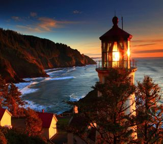 Обои на телефон берег, приятные, прекрасные, море, милые, взгляд, oregon coast sea