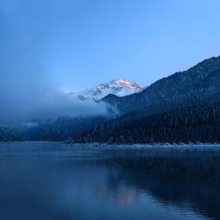 Обои на телефон про, хуавей, океан, озера, матовые, зима, горы, huawei mate 40 pro, hd