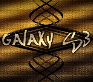 Обои на телефон золотые, галактика, galaxy s3, galaxy gold