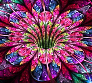 Обои на телефон фрактал, цветы, фон, красочные, абстрактные