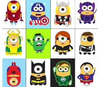 Обои на телефон герои, миньоны, minions heros, jsetje, fgeth