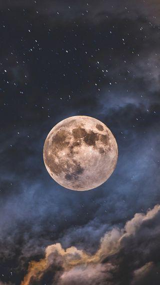 Обои на телефон ночь, луна, full, mac