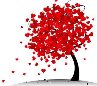 Обои на телефон валентинки, сердце, любовь, дерево, день, абстрактные, zedgevday, valentines tree, tree hearts, love
