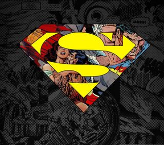 Обои на телефон супермен, логотипы, 2160x1920