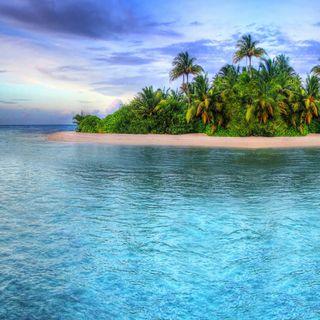 Обои на телефон остров, тропические, рай, пляж, пальмы
