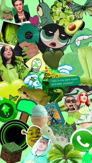 Обои на телефон коллаж, эстетические, мультфильмы, милые, зеленые, tumblr, shrek, green aesthetic, aestetic