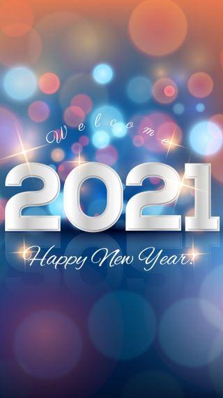 Обои на телефон телефон, счастливые, симпатичные, поговорка, новый, год, блестящие, welcome, happy, 2021