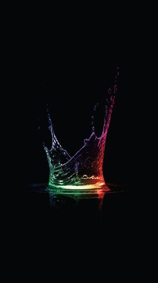 Обои на телефон брызги, темные, красочные, вода, абстрактные, water splash