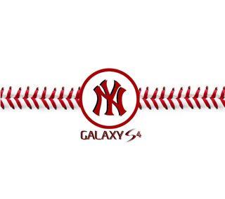 Обои на телефон янки, бейсбол, самсунг, новый, логотипы, галактика, samsung, s4, galaxy