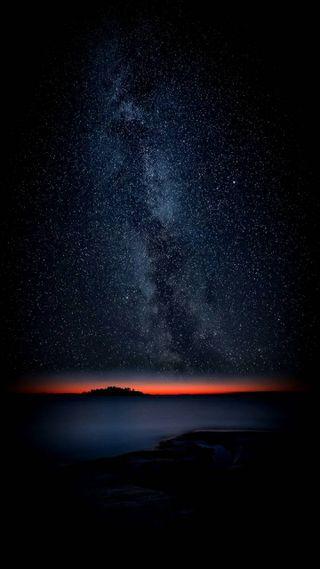 Обои на телефон военно морские, черные, океан, млечный, луна, горы, галактика, вулкан, вечность, аврора, galaxy