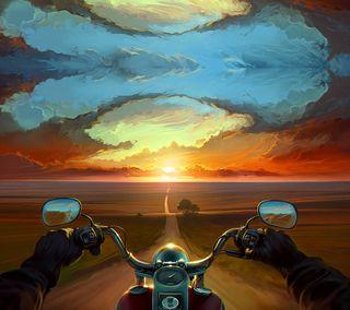 Обои на телефон всадник, мото, moto rider, modifiyemtv, modifiye