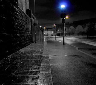 Обои на телефон кирпичи, улица, пейзаж, огни, ночь, новый, крутые, дорога
