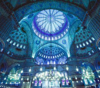 Обои на телефон каран, турецкие, синие, рамадан, мечеть, исламские, ислам, аллах, blue mosque