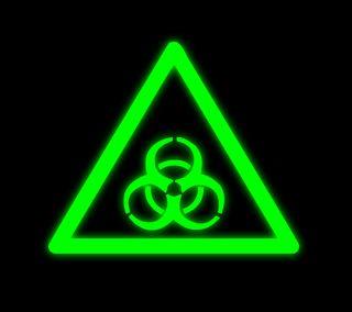 Обои на телефон опасные, неоновые, знаки, зеленые, биологическая опасность, biohazard