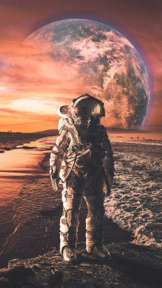 Обои на телефон мир, луна, космос, земля, spaceman, space man