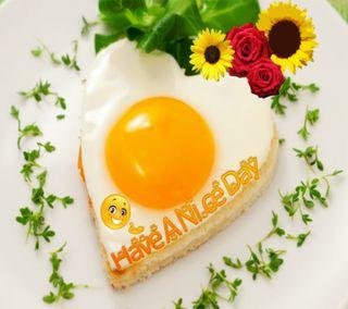 Обои на телефон яйца, пожелание, цветы, утро, приятные, приветствия, прекрасные, день, высказывания, a nice day