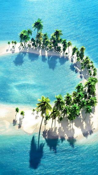 Обои на телефон тропики, пальмы, остров, океан, мальдивы