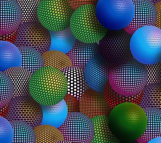 Обои на телефон круги, цветные, сферы, сфера, мяч, абстрактные, 3д, 3d