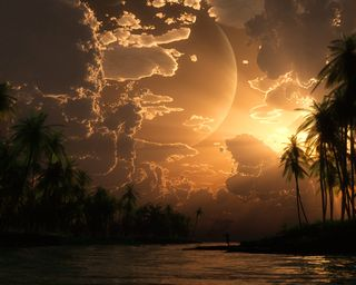 Обои на телефон рай, остров, закат, paradise sunset