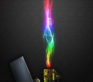 Обои на телефон пламя, неоновые, зажигалка, lighter neon flame, lighter neon